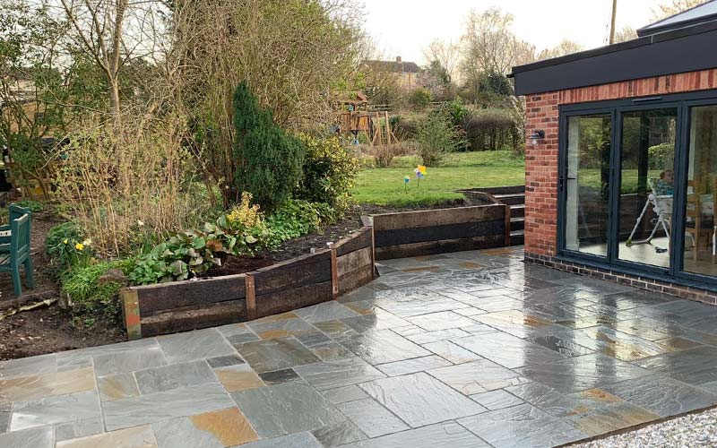 Paved patio area for Leicestershire client